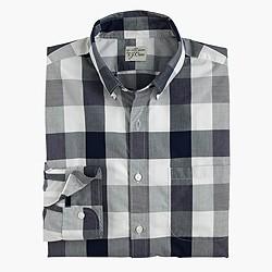 Secret Wash end-on-end cotton shirt in oversized gingham