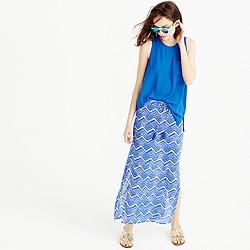 Tassel beach skirt in zigzag ikat