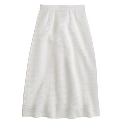 Collection mesh-eyelet skirt