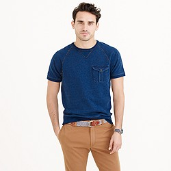Wallace & Barnes short-sleeve indigo sweatshirt