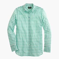 Boy shirt in crinkle gingham