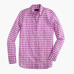Tall boy shirt in crinkle gingham