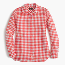 Preppy gingham check shirt