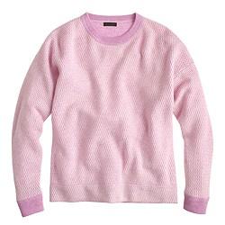 Italian cashmere waffle-stitch sweater