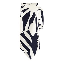 Boys' silk tie in palm print