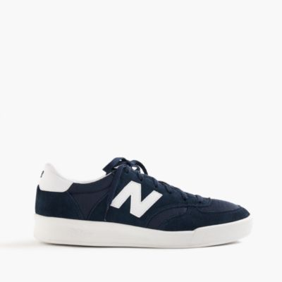 New Balance for J.Crew Mens CRT300 Suede Sneakers in Navy/White