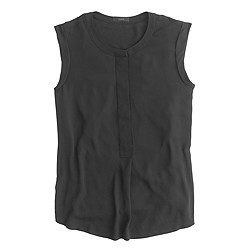 Sleeveless drapey popover shirt