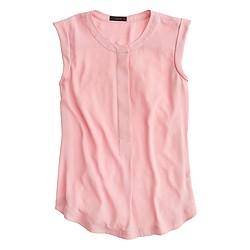 Petite sleeveless drapey popover shirt