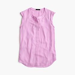 Sleeveless drapey popover shirt