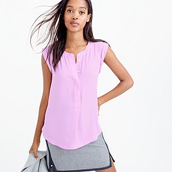 Tall sleeveless drapey popover shirt