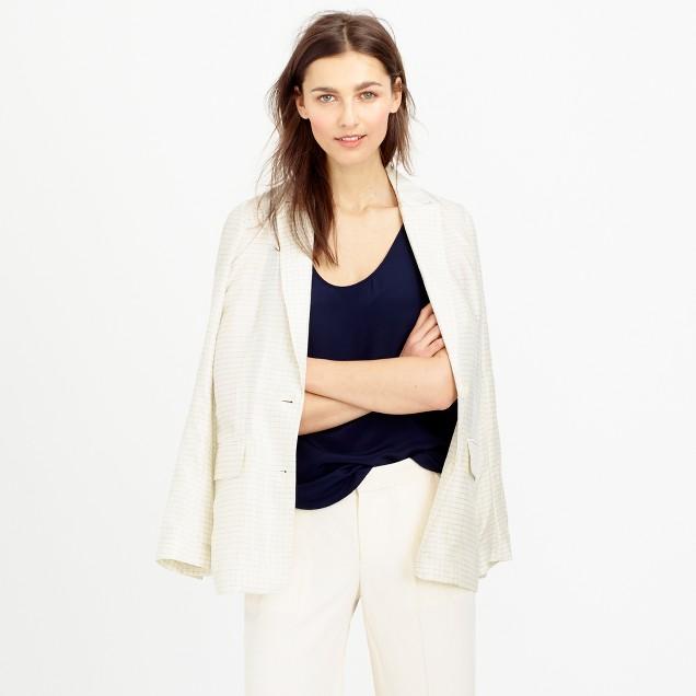 Collection windowpane silk blazer