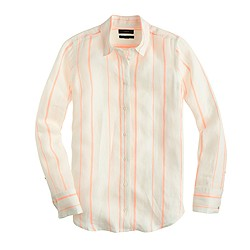 Boy shirt in orange stripe