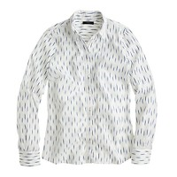 Perfect shirt in dash-dot ikat