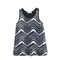 Girls' mixed tank top in ikat