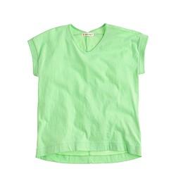 Girls' banded T-shirt
