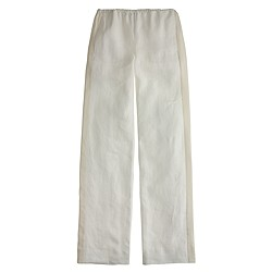 Collection tuxedo-striped linen pant