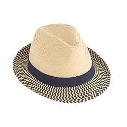 Kids' zebra-striped band trilby hat