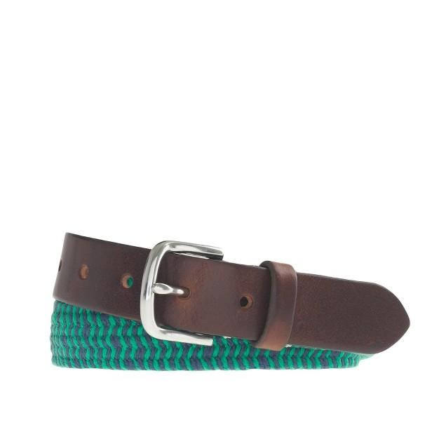 Boys' braided web belt in stripe