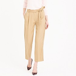 Cropped wide-leg trouser with tux stripe
