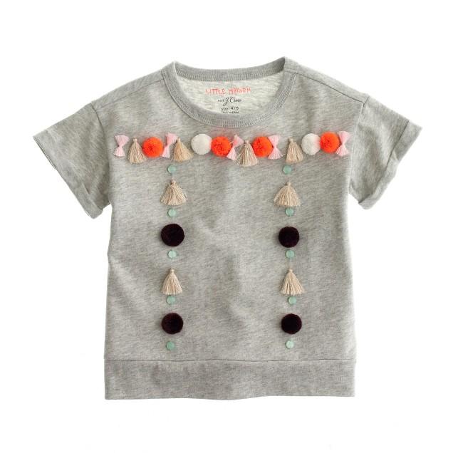 Girls' Little Mayhem™ for J.Crew tassel T-shirt
