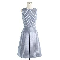 Petite chevron-striped dress