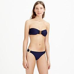 Gold brick bandeau bikini top