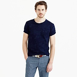 Wallace & Barnes indigo pocket T-shirt in floral