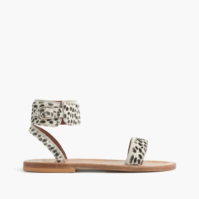 K. Jacques™ for J.Crew calf hair Saratoga sandals