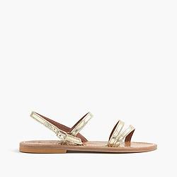 K. Jacques™ for J.Crew metallic Eres sandals