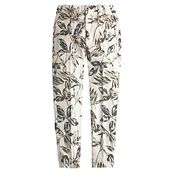 Tall garden pant in gold foil leaf