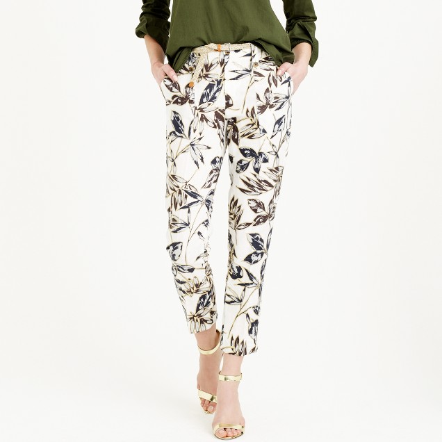 Garden pant in gold foil leaf