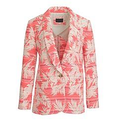 Petite shawl-collar blazer in sun-faded tropical