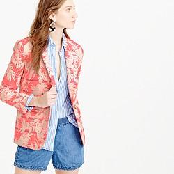 Shawl-collar blazer in sun-faded tropical
