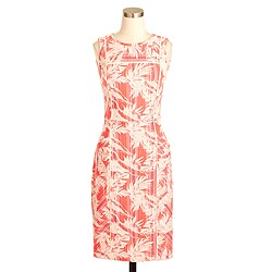 Petite sun-faded tropical sheath dress