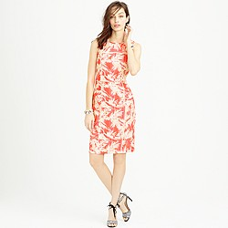 Sun-faded tropical sheath dress