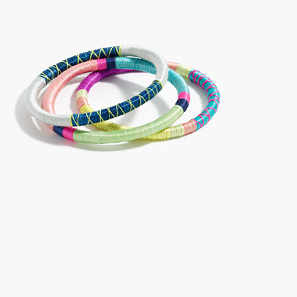 Indego Africa™ sweetgrass bangles set of three