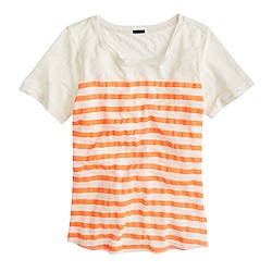 Linen striped T-shirt