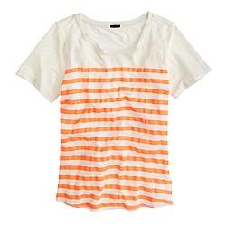 Linen striped T-shirt