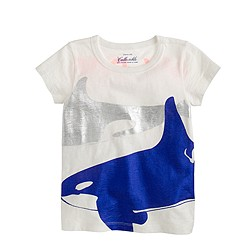 Girls' metallic whales T-shirt
