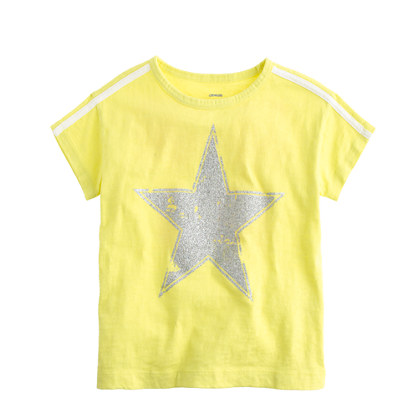 Girls 39 sequin star t shirt short sleeve t shirts j crew for Girls sequin t shirt