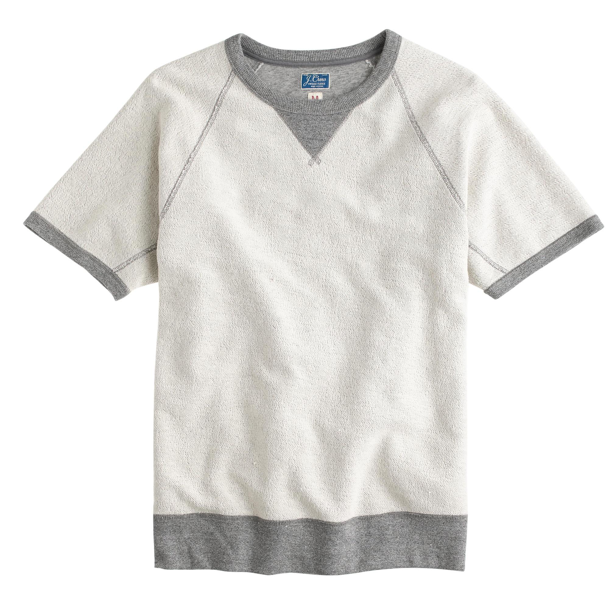 Short-sleeve reverse sweatshirt : Men sweatshirts | J.Crew