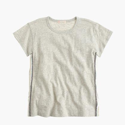 Girls' sequin-seam T-shirt