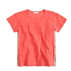 Girls' sequin-seam T-shirt