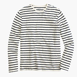 Long-sleeve deck stripe T-shirt