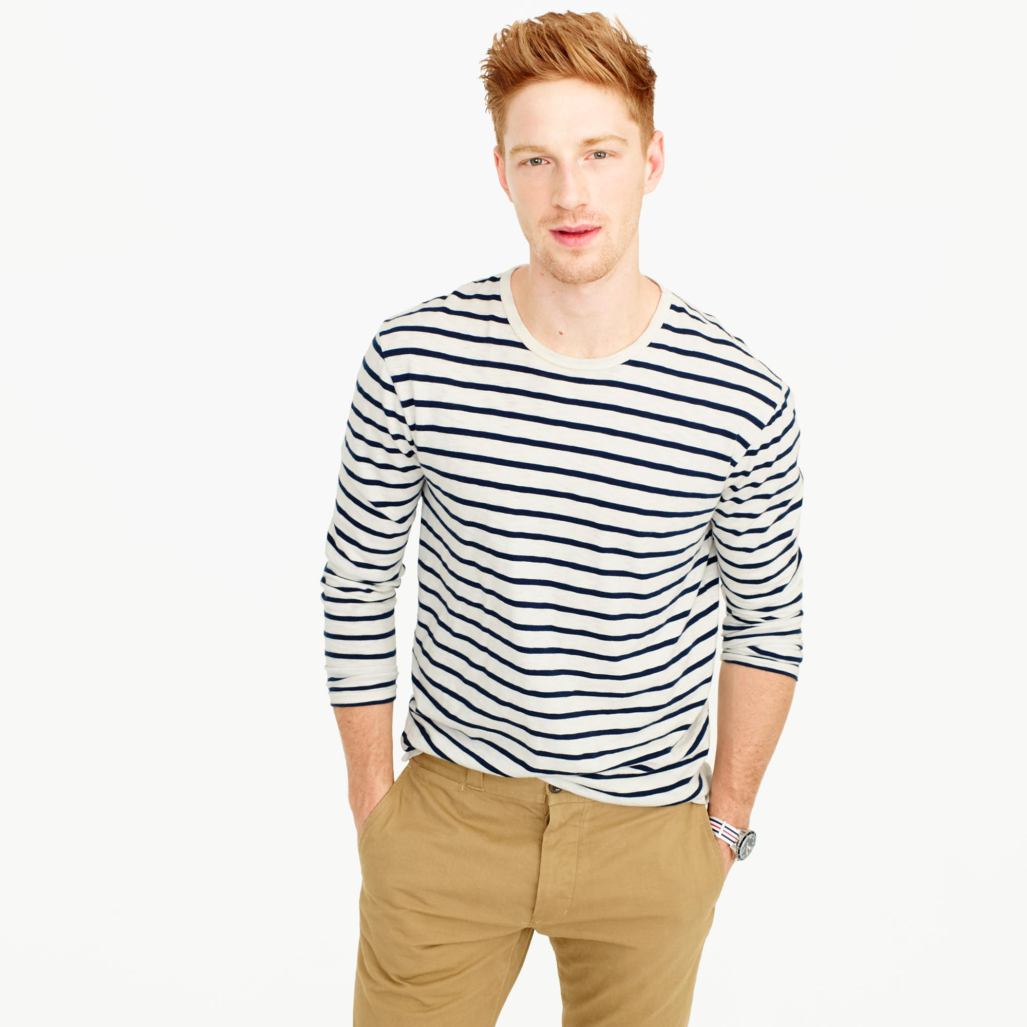 Striped Long Sleeve T Shirt