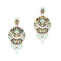 Crescent floral cluster earrings