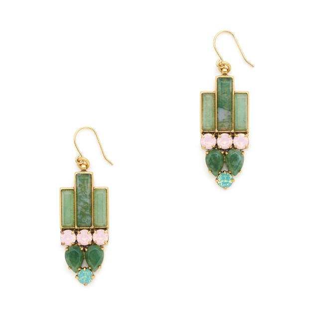 Deco stone earrings