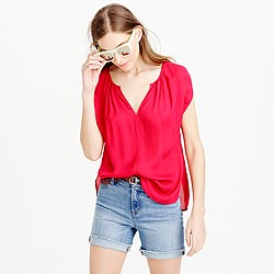Collection silk petal-sleeve top