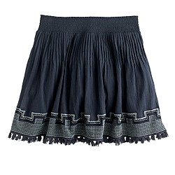 Embroidered tassel gauze skirt