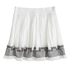 Embroidered tassel gauze skirt